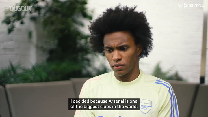 Willian's first interview as an Arsenal player