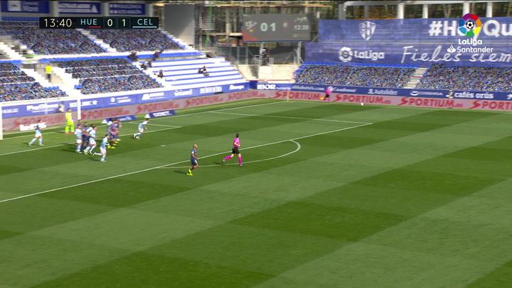 Gol de Siovas (1-1) en el Huesca 3-4 Celta