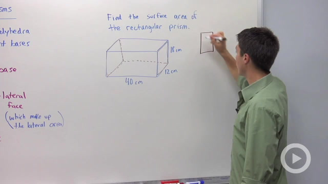 Surface Area of Prisms - Problem 1