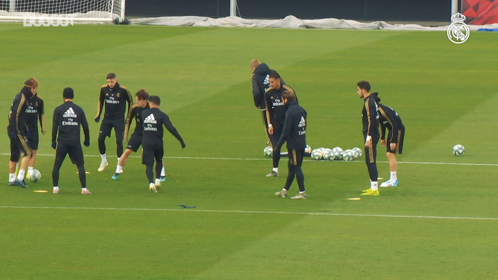 Real Madrid's second session ahead of Alavés game