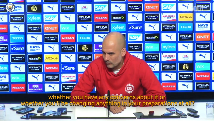 Guardiola: 'We have to be calm in face of coronavirus'