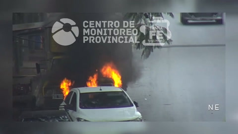 Nuevo ataque incendiario a un carrito del parque Independencia