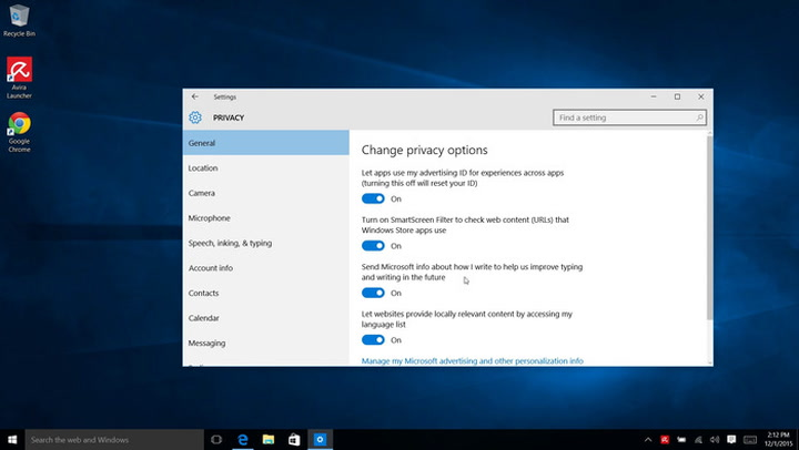 How to turn off Windows 10's keylogger (yes, it still has one) | PCWorld
