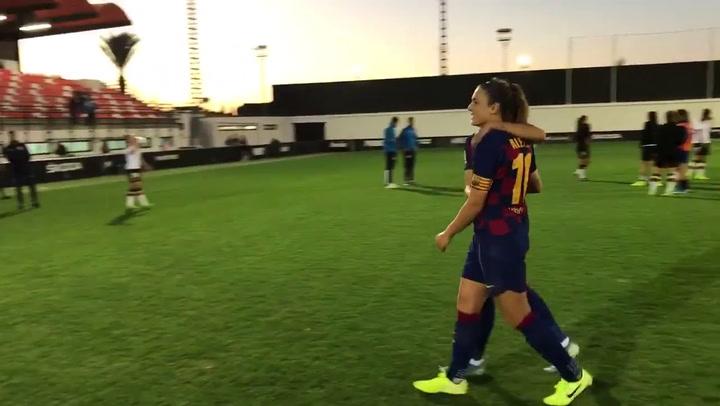 0-4: El Barça golea en Valencia con doblete de Alexia y lesión de Graham