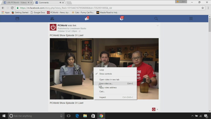 How to download and save a Facebook video | TechHive