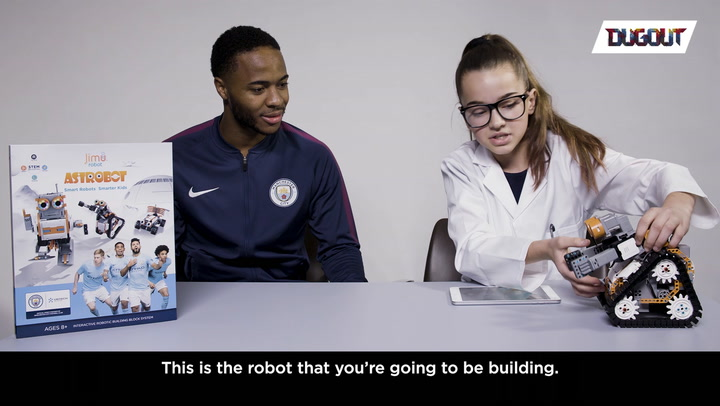 Robot building with Raheem Sterling