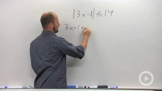 "Solving ""Less Than"" Absolute Value Inequalities - Problem 1"