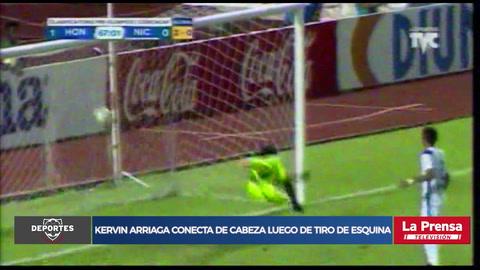 ¡Kervin Arriaga abre la cuenta de Honduras ante Nicaragua en el Olímpico!