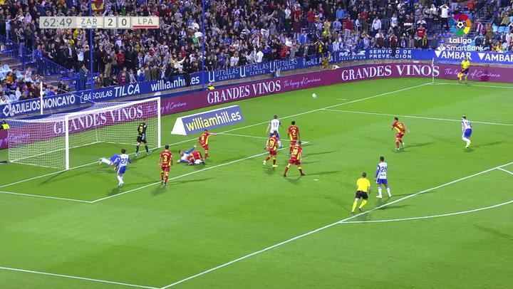 Gol de Luis Suárez en el Zaragoza - Las Palmas