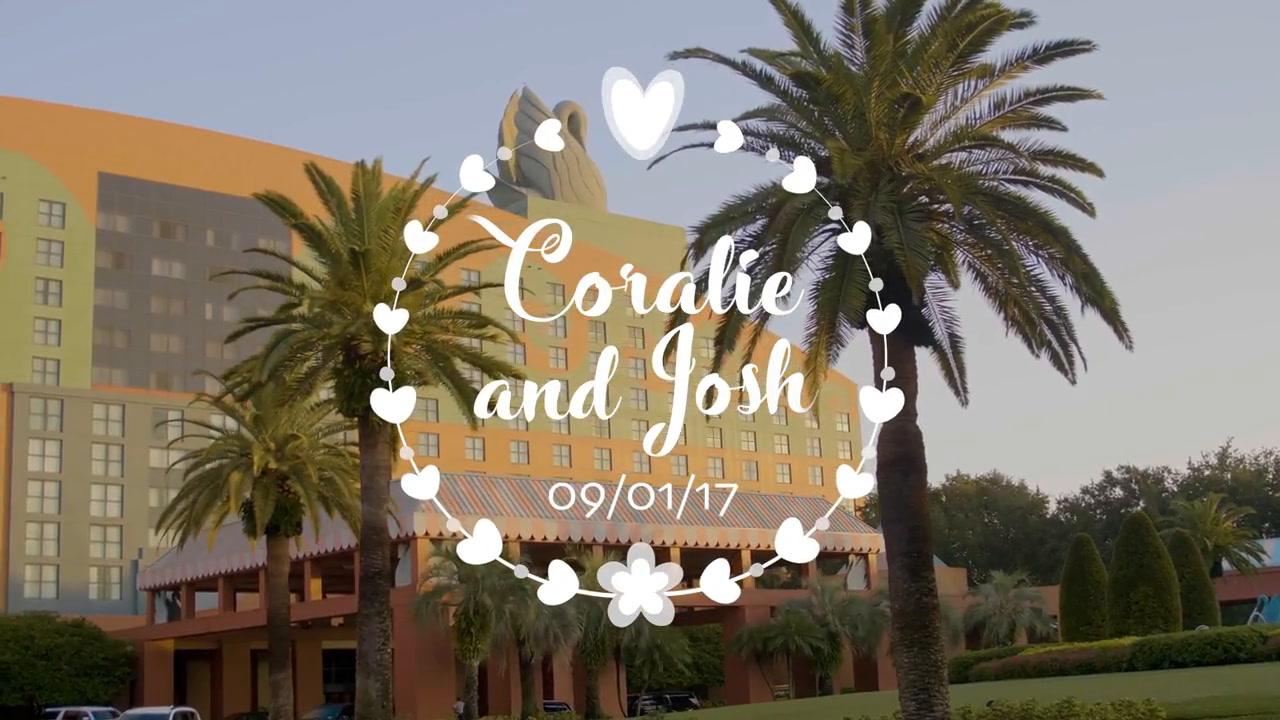 Coralie + Josh | Orlando, Florida | Walt Disney World Swan