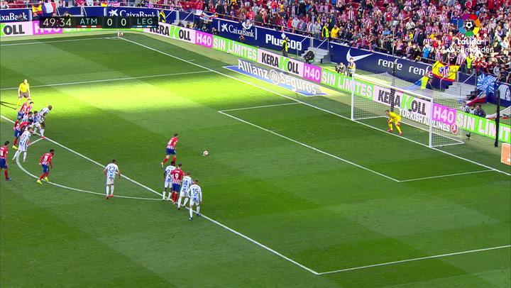LaLiga: Atlético-Leganés. Gol de Saúl Ñíguez de penalti (1-0)