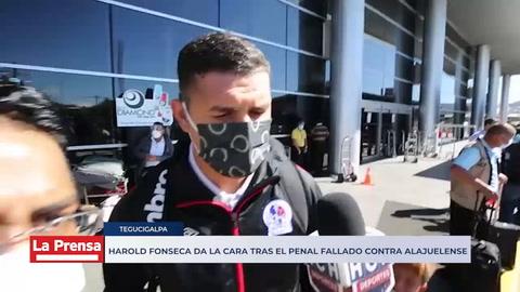 Harold Fonseca da la cara tras el penal fallado contra Alajuelense