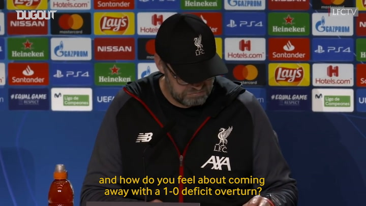 Klopp won't dwell on Atletico result