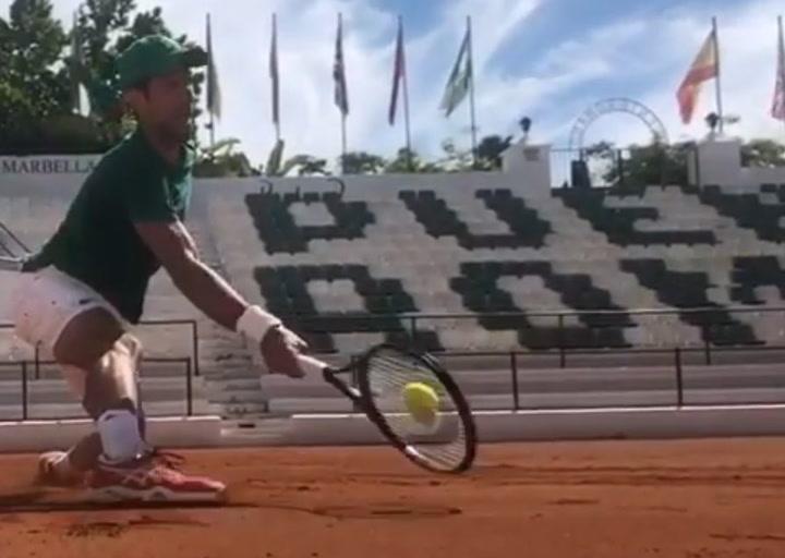 Djokovic, entrenando en Marbella