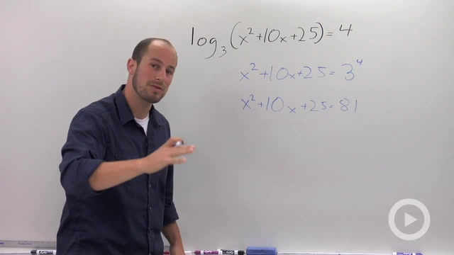 Solving a Logarithmic Equation - Problem 1