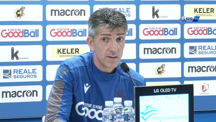 """Imanol: """"Tenemos que marcar por lo menos dos goles"""""""