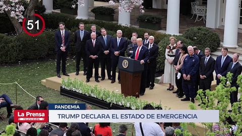 Trump declara el estado de emergencia por la pandemia del coronavirus y otras noticias