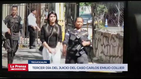 Tercer día del juicio del caso Carlos Emilio Collier