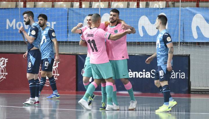 El Barça empató a 3 al final del partido ante el Inter Movistar