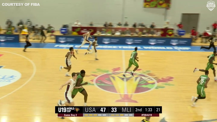 USA Men U19 Highlight Vs Mali