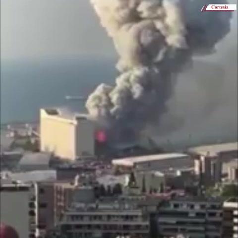 Explosiones en el puerto de Beirut dejan decenas de heridos