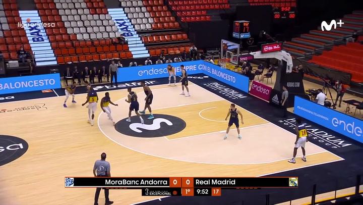 91-75: El Madrid cae ante el Andorra y se complica su pase a semis