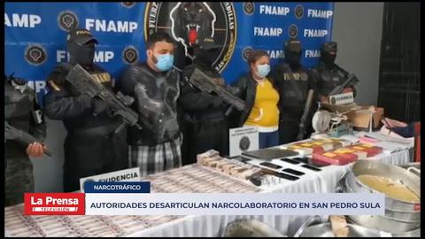 Autoridades desarticulan narcolaboratorio en San Pedro Sula