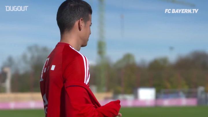 En el Entrenamiento: con James Rodríguez