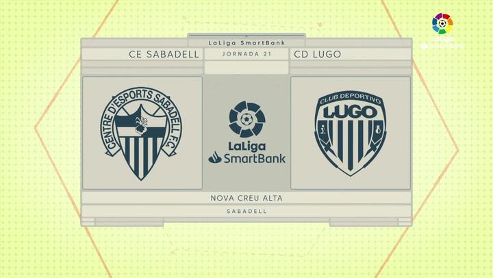 LaLiga SmartBank (J21): Resumen y goles del Sabadell 1-1 Lugo