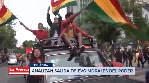 Analizan salida de Evo Morales del país