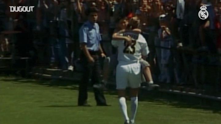 First goal for Real Madrid: David Beckham and Dani Carvajal