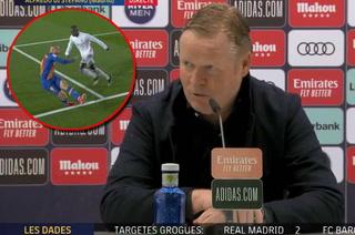 Koeman vuelve a caer contra el Madrid y ataca al arbitraje: ''Todo el mundo ha visto el penal, es clarísimo''