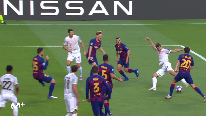 Champions League FC Barcelona-Bayern. Gol de  Müller (1-0)