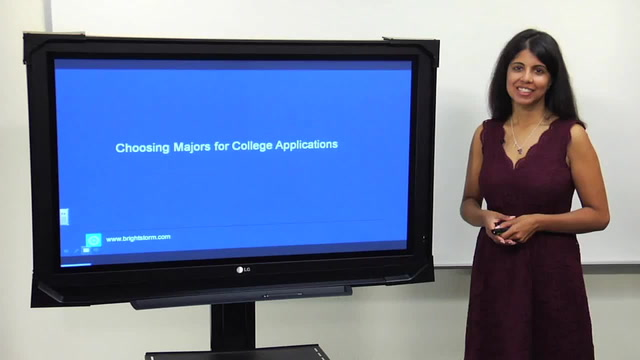 Choosing majors in college application
