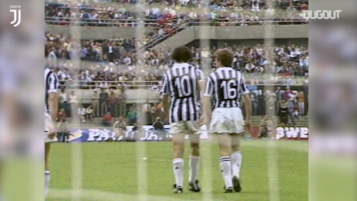 Michel Platini's brace for Juventus against Atalanta