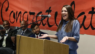 Graduation ceremony for inmates at Florence McClure Women's Correctional Center