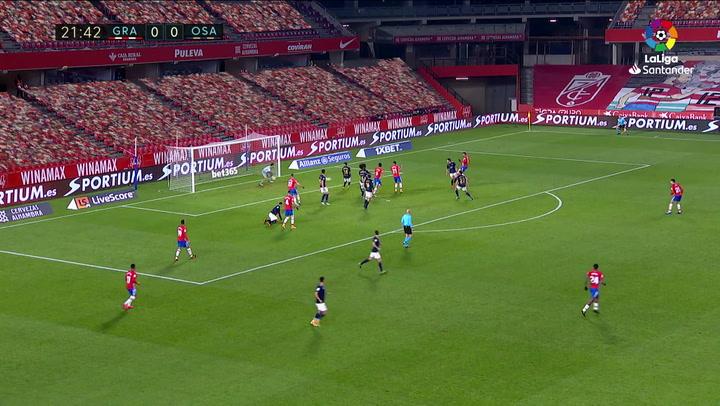 Gol de Luis Suárez (1-0) en el Granada 2-0 Osasuna