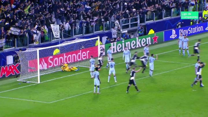 Champions League: Juventus - Atlético. Gol de Paulo Dybala (1-0)