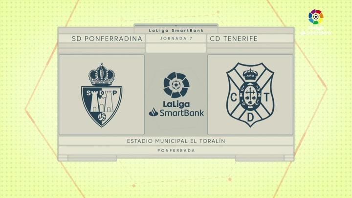 LaLiga SmartBank (J7): Ponferradina 1-0 Tenerife