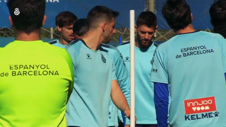 El Espanyol entrena con la mente puesta en el Sadar