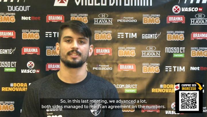 Ricardo Graça hopes to sign a new contract with Vasco