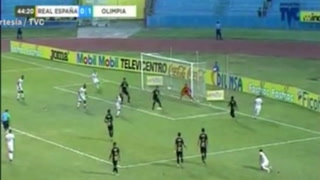 Olimpia anota el 2-0 ante Real España en estadio Olímpico