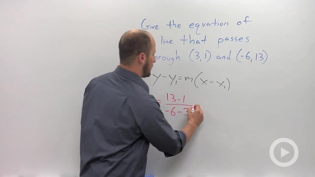 Point-Slope Form of a Line - Problem 2