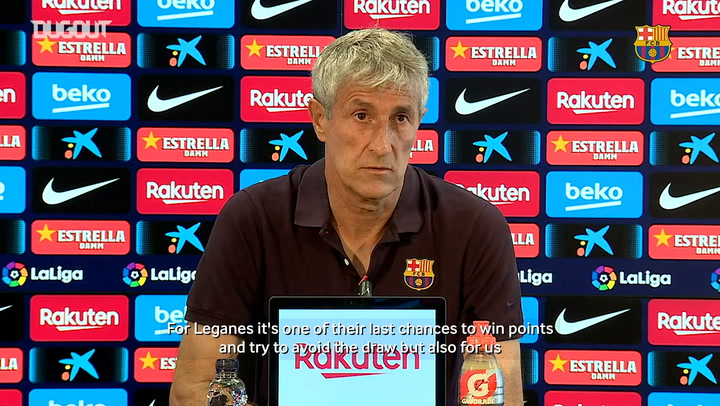 Quique Setién: 'We have to adapt to the new circumstances'