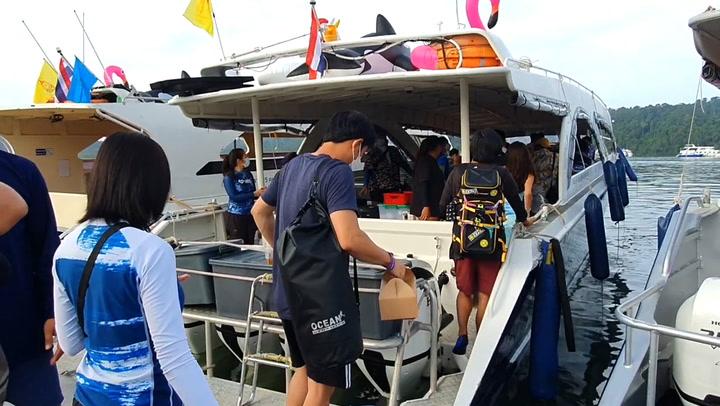 บรรยากาศท่าเรือคึกคัก คนแห่เที่ยวสิมิลัน จองทริปกันอื้อ
