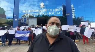 Realizan protesta en la Secretaría de Trabajo y Seguridad Social
