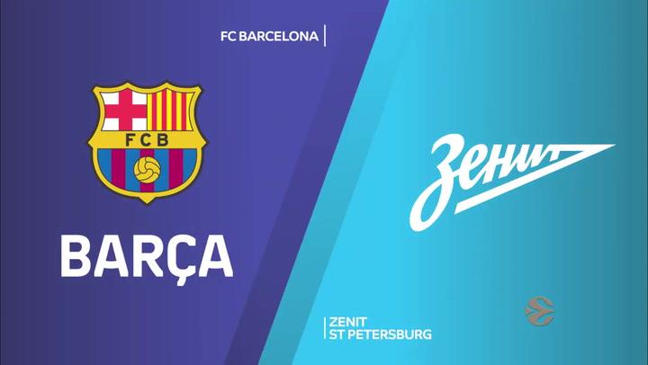 Euroliga: FC Barcelona - Zenit St Petersburg