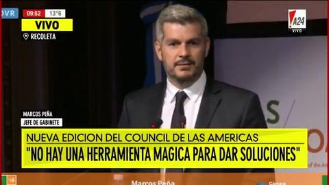 Marcos Peña dijo que no estamos ante un fracaso económico