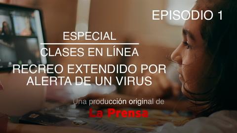 Especial clases en línea recreo extendido por alerta de un virus