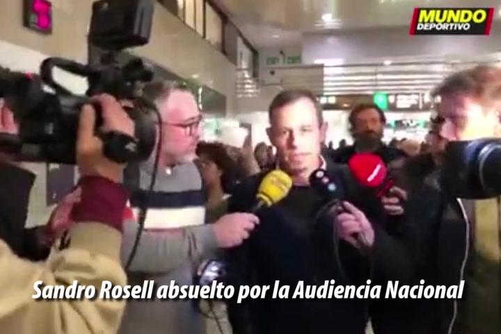 Sandro Rosell absuelto por la Audiencia Nacional